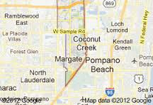 Coconut Creek map Home Care Aides in Boca Raton Paradise Home