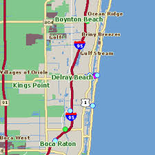 Map Of Florida Showing Delray Beach.Delray Beach Map Home Care Aides In Boca Raton Paradise Home